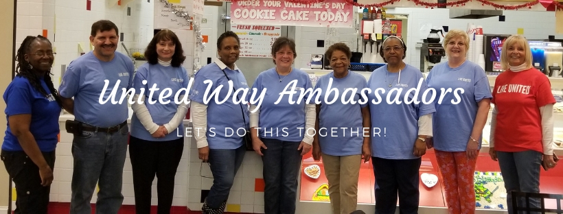 United Way Ambassadors help with events.