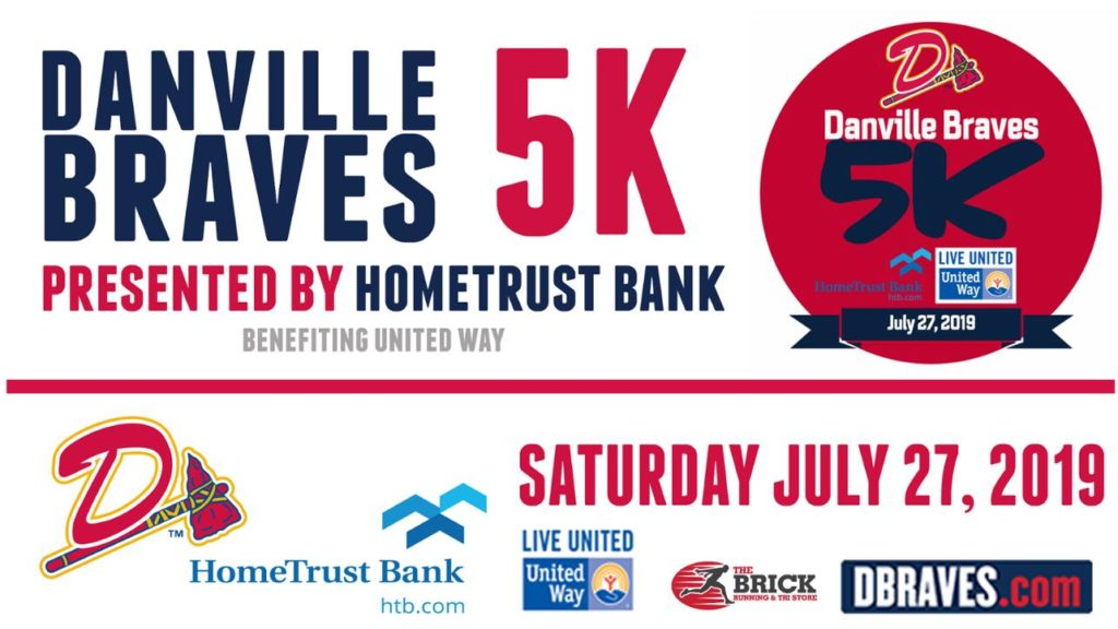 Danville Braves and HomeTrust Bank sponsored a 5K and the proceeds went to United Way.