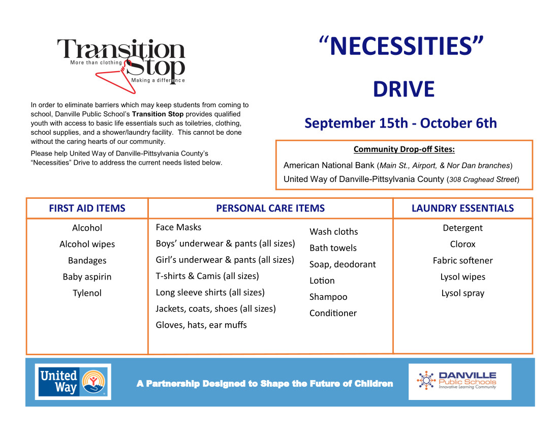 Transition Stop Necessities Drive